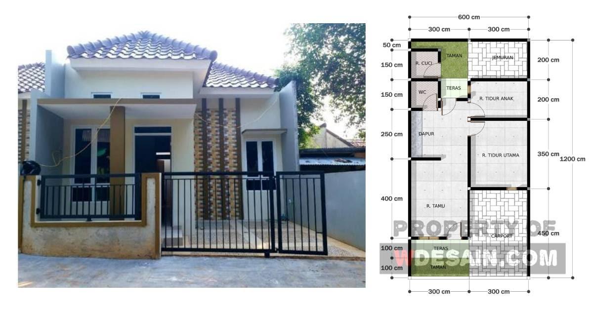Desain Rumah Ukuran 6x12 1 Lantai - DESAIN RUMAH MINIMALIS