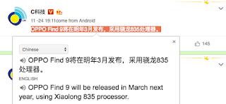 Oppo Find 9 dg Snapdragon 835 Meluncur Maret 2017?