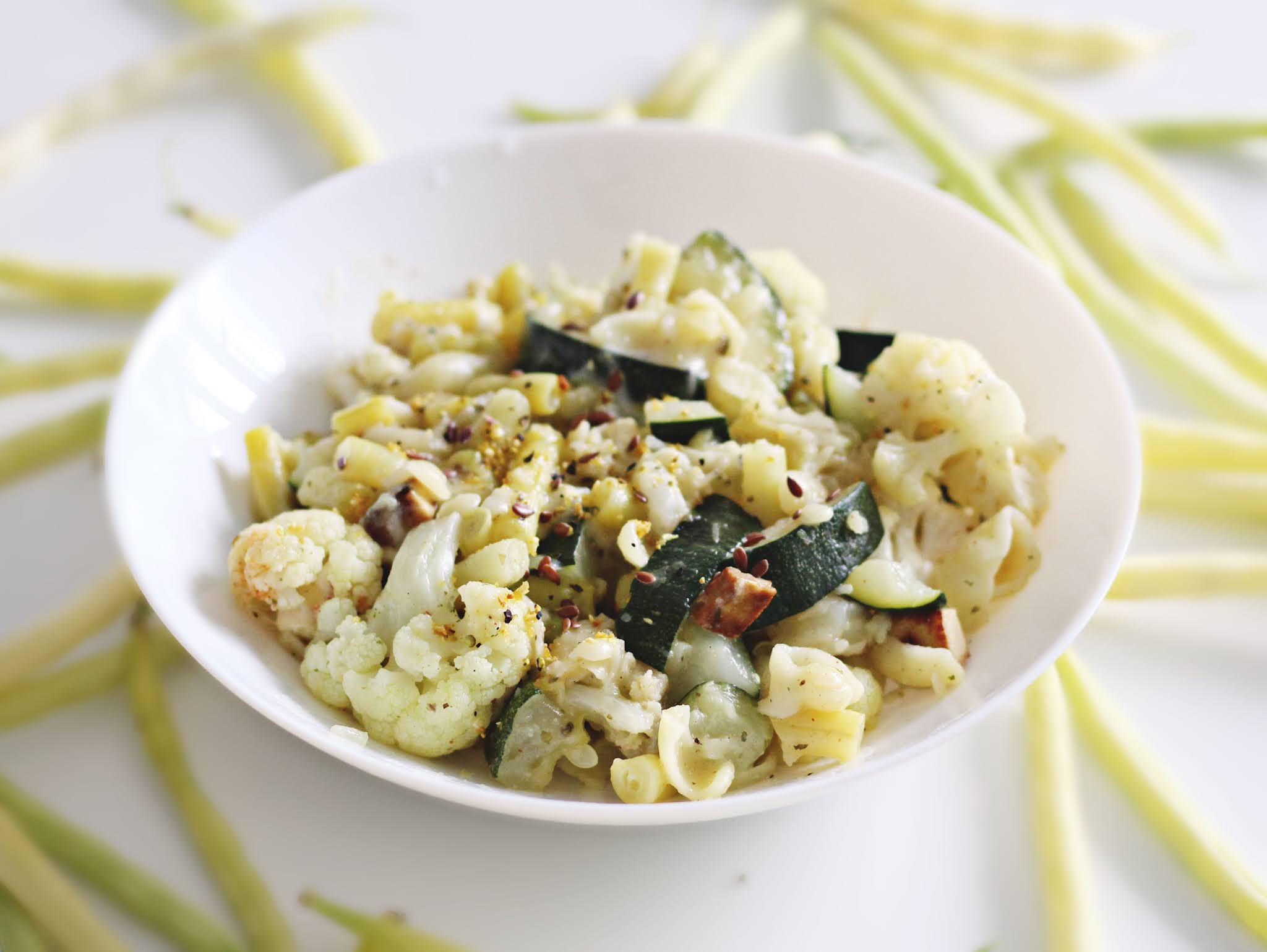 Jedngarnkowy fit makaron z warzywami