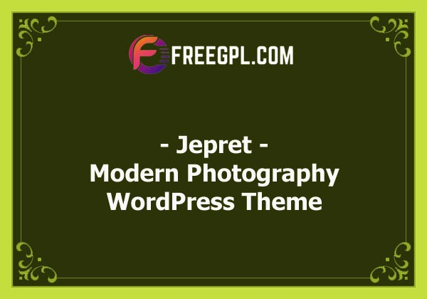 Jepret | Modern Photography WordPress Theme Nulled Download Free