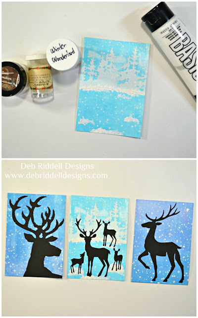 Winter Deer Triptych Tutorial Step Two