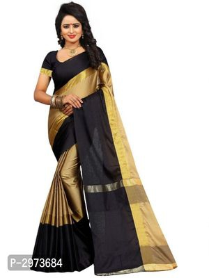 Color Block Woven Cotton Silk Sarees,