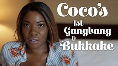Coco First Gangbang and Bukkake