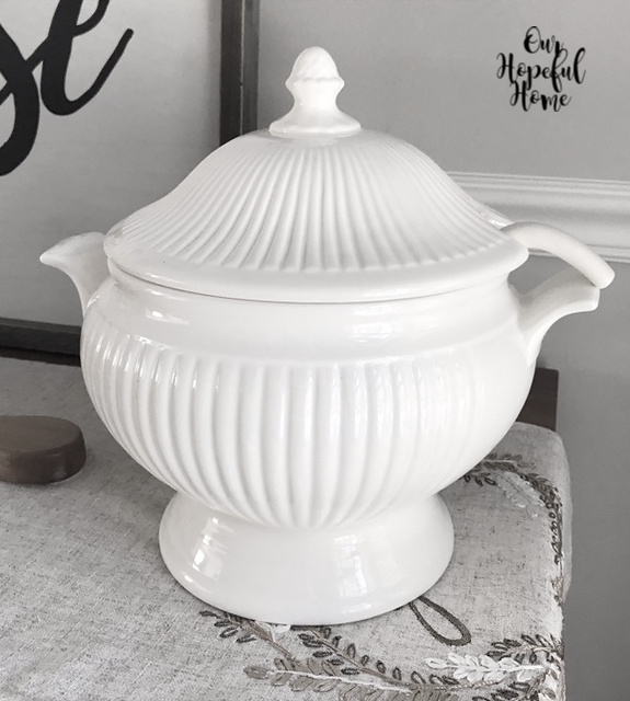 vintage thrift store ironstone soup tureens
