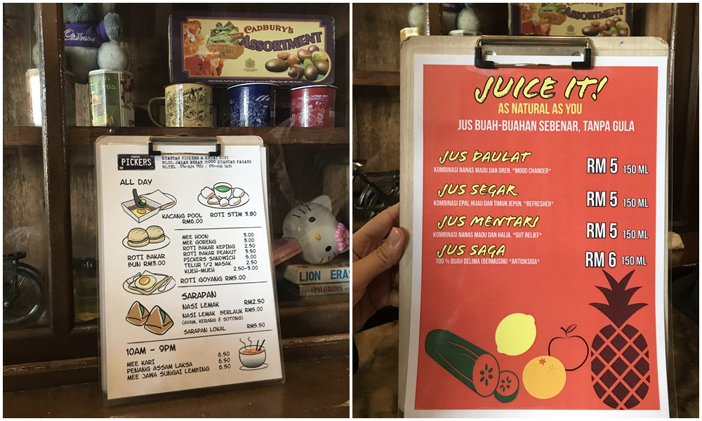Nikmati Minum Petang di Kuantan Pickers & Kedai Kopi