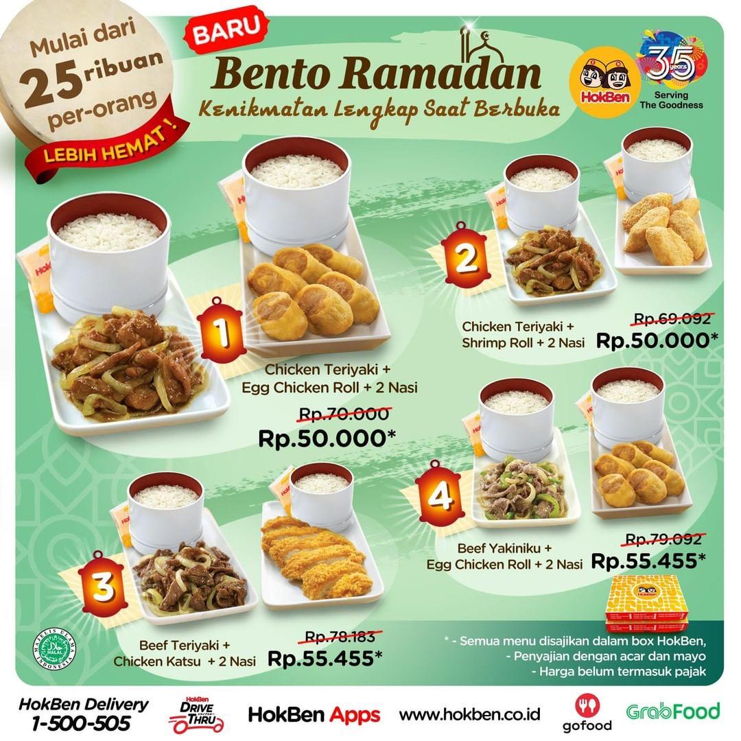 Promo Hokben Bento Ramadhan Paket Hemat Mulai 25 Ribuan Per Orang