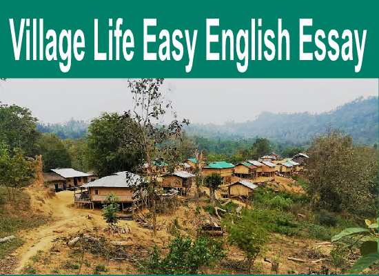 English Easy Essay For All Class Students Village Life