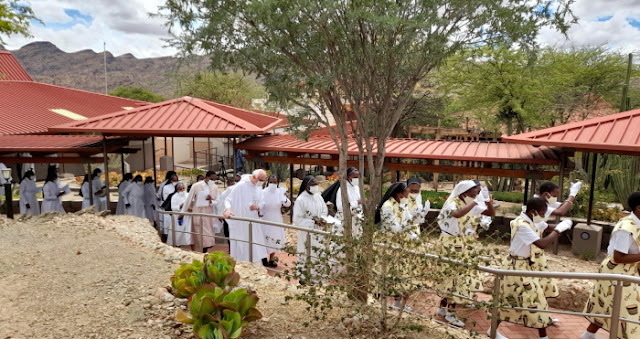 Windhoek Priory  Procession to the Memorial Wall
