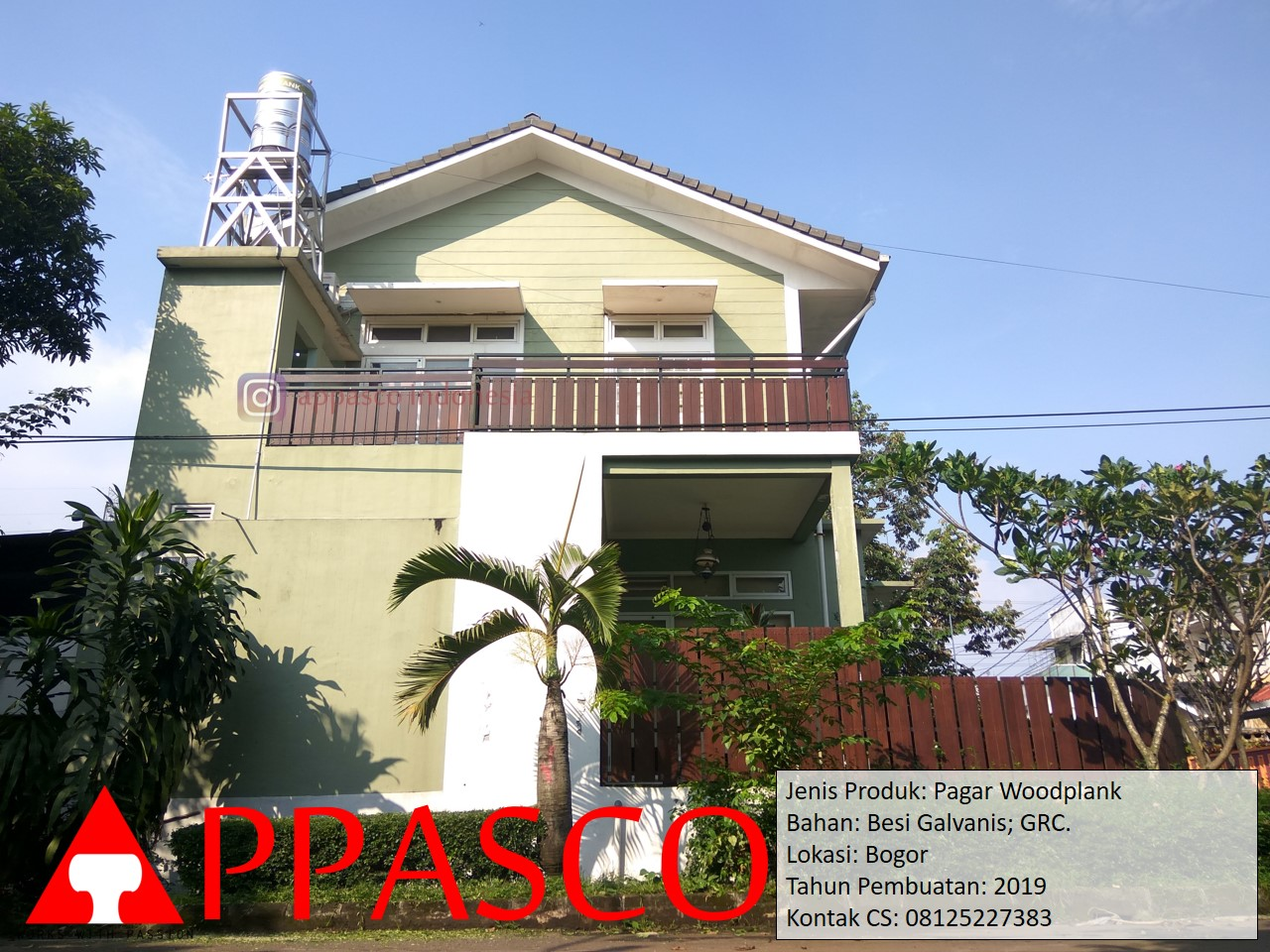 Pagar Woodplank Rumah Minimalis di Bogor