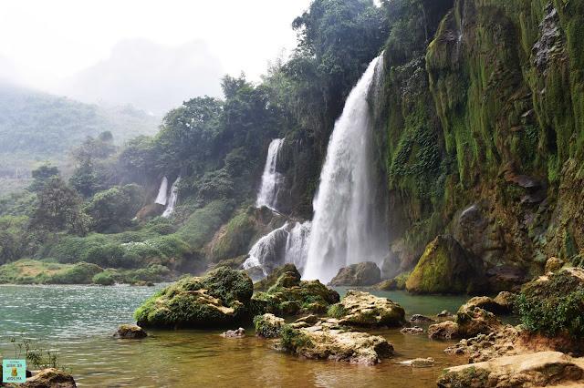Cascada Ban Gioc (parte izquierda), Vietnam