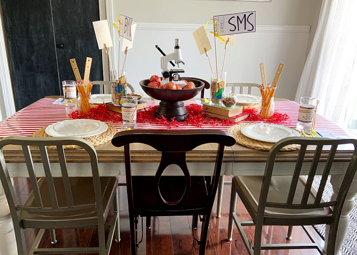 Back to School Dinner Table Setting