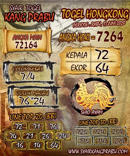 Prediksi Togel Hongkong Rabu 17 Juni 2020 - Kang Prabu