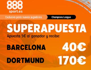 888sport superapuesta Barcelona vs Dortmund 27 noviembre 2019