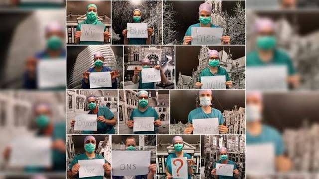 نحن هنا من أجلكم فهل تبقوا في منازلكم لاجلنا .. رسالة من الممرضين و الاطباء في هولندا إليكم