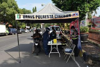 Bhakti Sosial Rapid Test Covid-19 Drive Thru Polresta Cirebon Dalam Rangka Hari Bhayangkara ke-74