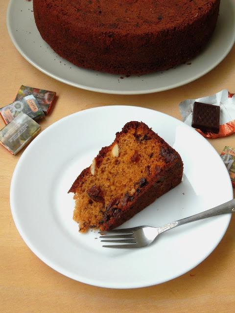 Christmas Fruit Cake with No Refined Sugar, Spelt Flour Christmas Cake