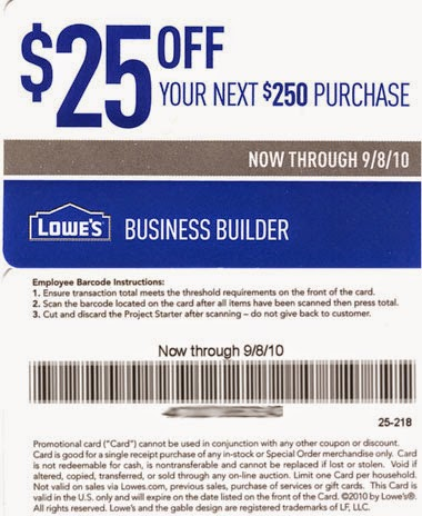 picture relating to Lowes 50 Off 250 Printable Coupon referred to as Low cost coupon codes for lowes components
