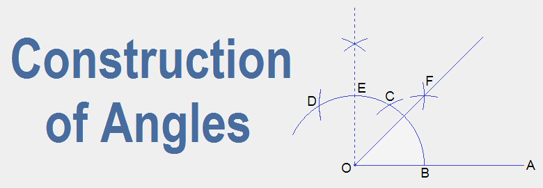 Construction of Angles