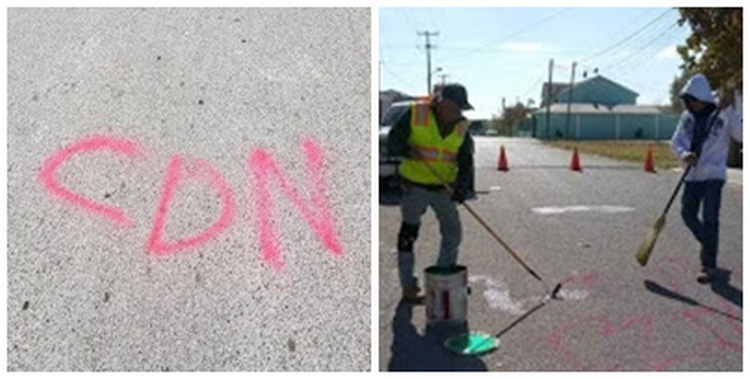 """""""El CDN Ya está aquí"""", Aparecen calles de Piedras Negras, Coahuila rayoneadas con las siglas del Cartel del Noreste"""