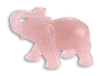 Rose Quartz Elephant Statue