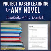 TEN highly structured choices for Project-Based Learning with included Rubrics - Printable and Digital!
