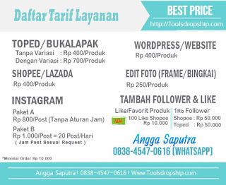 Jasa Tambah Follower Like Love komen Shopee Tokopedia Bukalapak Lazada