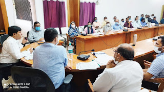जिला पर्यावरण योजना तैयार करने के लिये गठित जिला पर्यावरण समिति की बैठक शुक्रवार को कलेक्ट्रेट सभाकक्ष में रखी गई