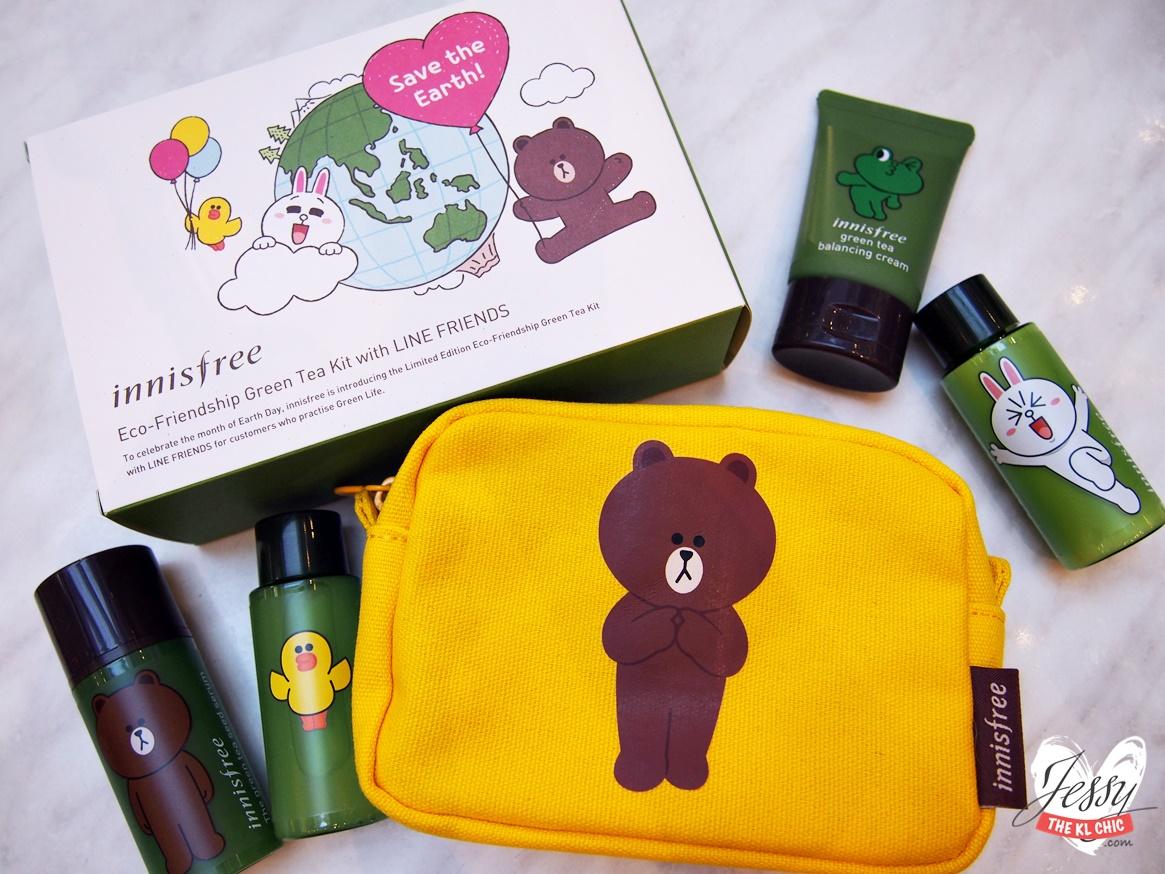 Innisfree Green Tea Kit x Line Friends