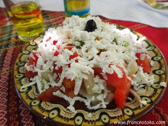 ブルガリアの伝統料理 shopska