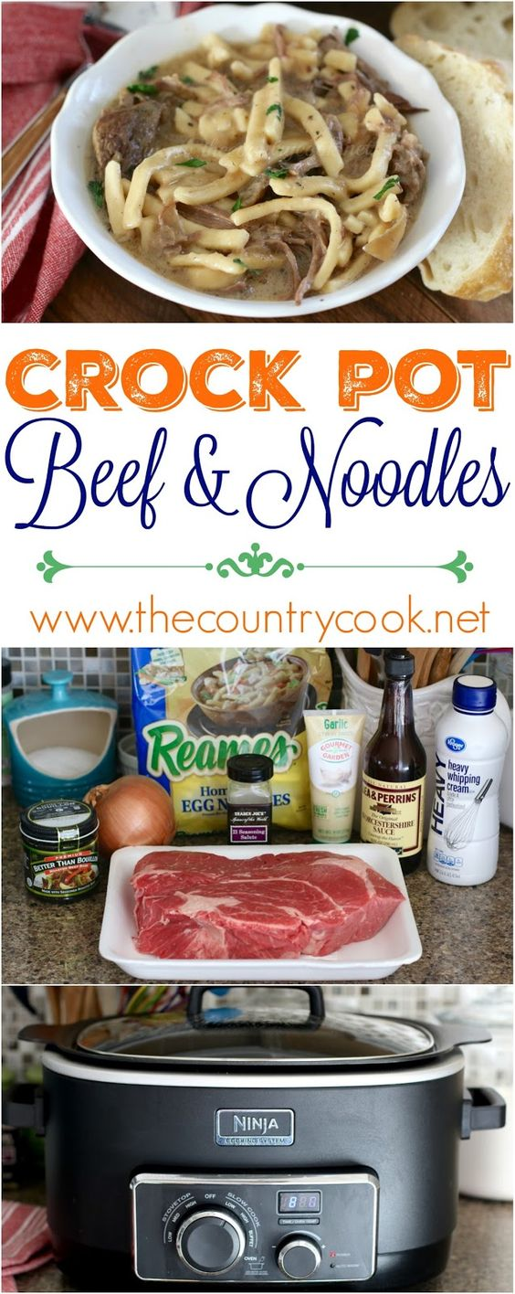 Crock Pot Beef and Noodles