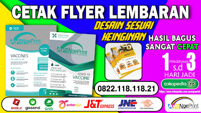 Cetak Flyer Lembaran Promosi Murah di Kiaracondong, Bandung