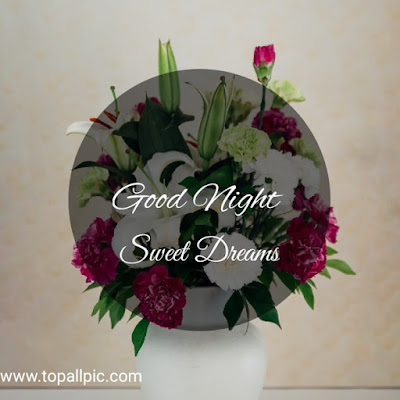 Good Night Sweet Dreams Images With Flower