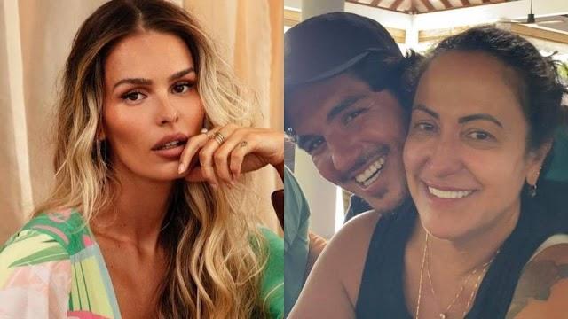 """Polêmica! Mãe de Gabriel Medina afirma ter vídeo íntimo de Yasmin Brunet fazendo sexo oral: """"Filme pornô"""""""