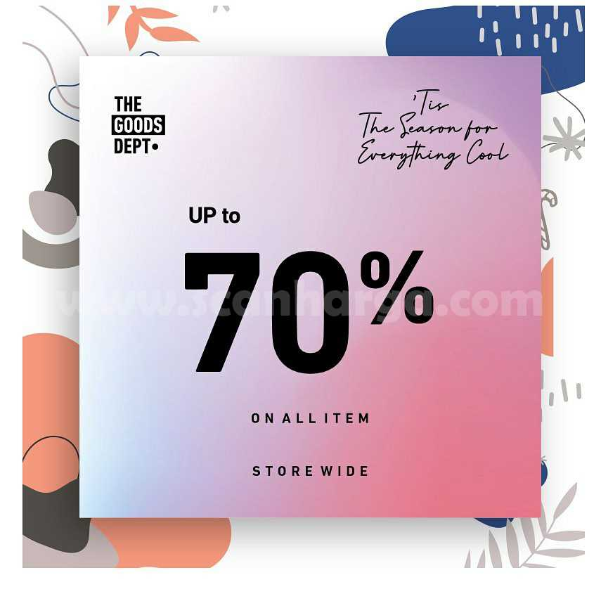 THE Goods Department Promo Tis The Season For Everything Cool - Disc. up to 70% on All Items*