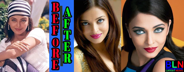 AISHWARYA RAI Bollywood Actresses Before and After Plastic Surgery