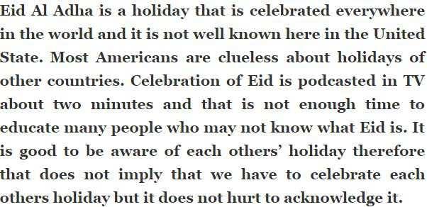 essay on eid ul fitar of 800 words