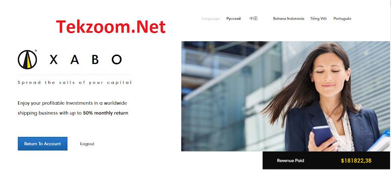 Review Xabo - Lãi ròng có thể lên tới 6.75% hằng ngày (ROI 150%) - Min Dep 10$ - Min Pay 1$ - Thanh toán tự động