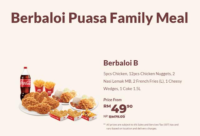 Berbaloi Puasa Family Meals  : Berbaloi B
