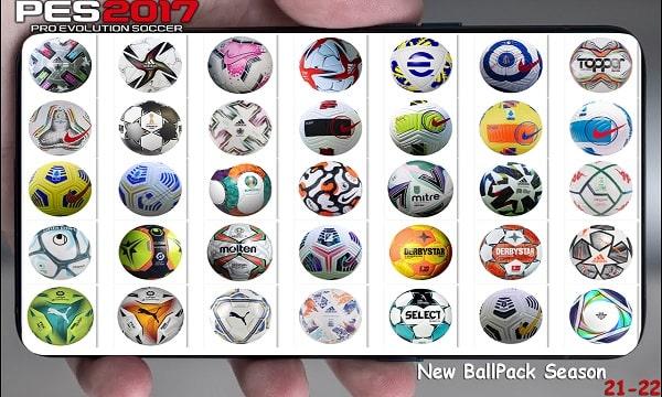 PES 2017 New Season Ballpack 2021-22 v1