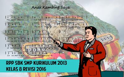 Download RPP SBK SMP Kurikulum 2013 Kelas 8 Revisi 2016