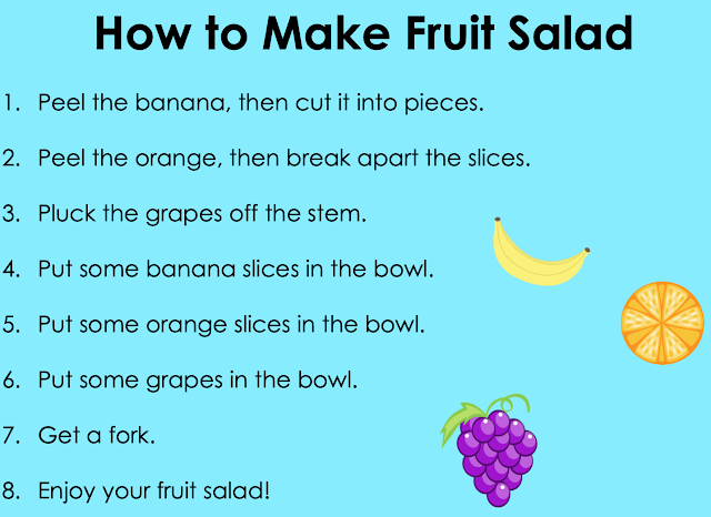 How to Make Fruit Salad chart