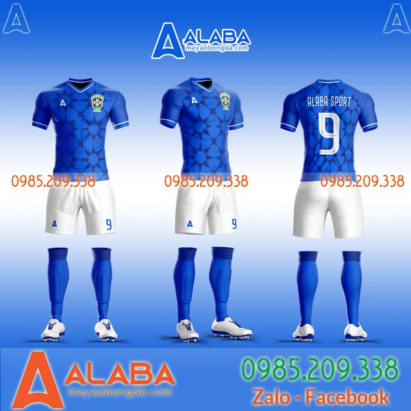 Áo đội tuyển Brazil tự thiết kế màu xanh đẹp