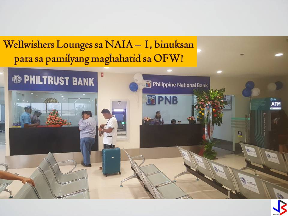 "The Ninoy Aquino International Airport Terminal 1 already opened its ""Wellwishers Lounges"" and encouraged OFWs and their families to avail and use the area. Heat, sweat, and broken hearts- that was how you could describe the farewell of overseas Filipino workers or OFWs at Ninoy Aquino International Airport. Before the opening of Wellwishers Lounge, many OFWs and their families choose to stay outside NAIA Terminal 1 and spend few more minutes together as they brace for many months or years of being apart.  This is the usual scene outside NAIA, under the scorching sun, families and friends have to stay outside to bid farewell to their relative who is bound to work overseas.  But not anymore, because today a lounge specifically for OFWs and their families was opened.  The Wellwishers Lounge is now open for the use of OFWs and their friends and relatives who wants to bid them farewell before their flight. It is opened for the convenience and to at least ease the heavy hearts of those who will send-off loved ones to work overseas."