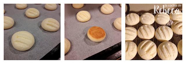 Receta de galletas de leche condensada (sin gluten): el horneado