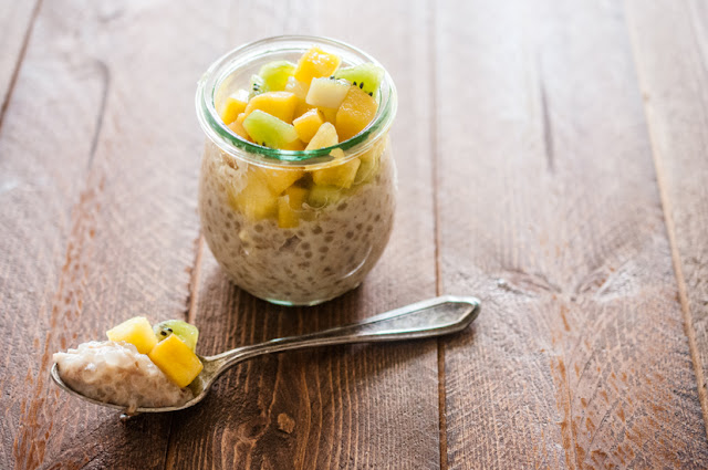Toasted Coconut Tapioca Pudding with Tropical Fruit (AIP, Paleo, Vegan)