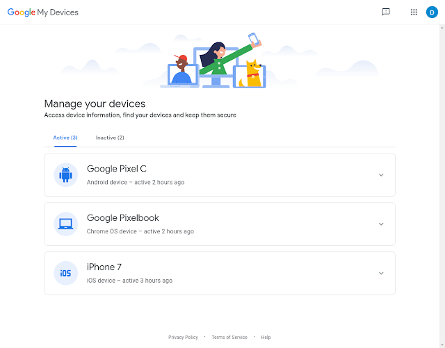 Revamped My Devices Page Will Help Users Find and Manage their Devices 1