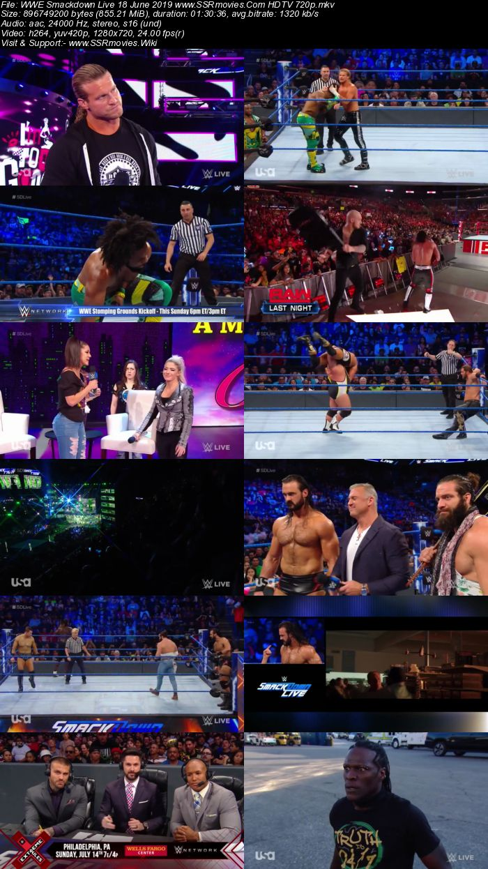 WWE Smackdown Live 18 June 2019 Full Show Download Movie Download