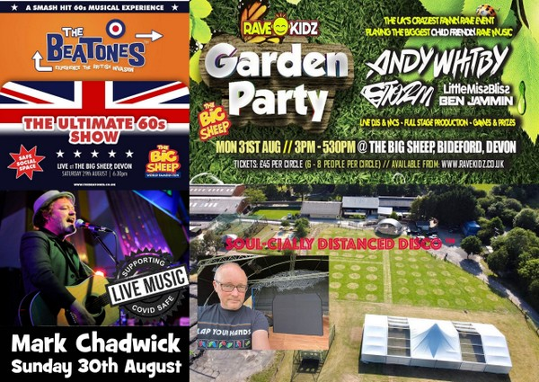 Bank Holiday weekend of live music as the summer full of fun continues at The Big Sheep Outdoor Arena.