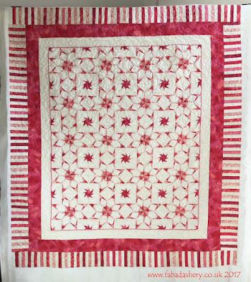 Sheila's Pink Foundation Pieced Quilt