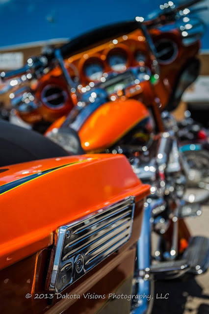 Images from Sturgis Motorcycle Rally 2013: Part I Harley Davidson Orange Fade
